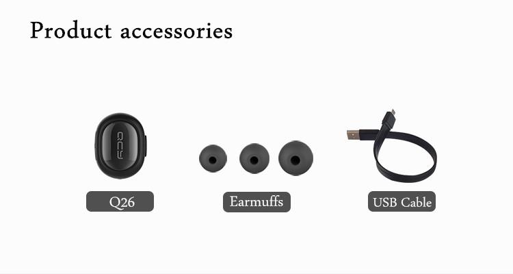 QCY Q26 Super Mini In-ear Universal Wireless Bluetooth 4.1