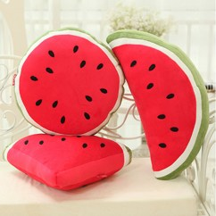 Pregnancy Pillow For Office Chair Grey Weave Garden Chairs 2 Creative Squishy Fruit Watermelon Triangle Semicircle Round Throw Plush Sofa Car ...