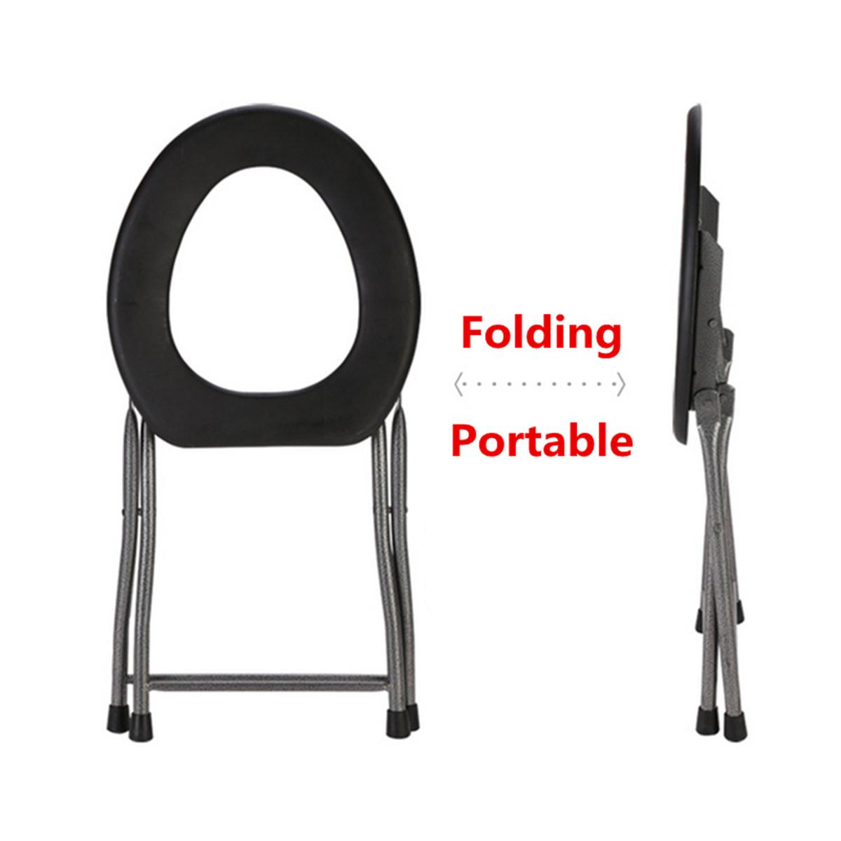 fishing chair singapore revolving barber ipree portable folding toilet stool old pregnant women sit