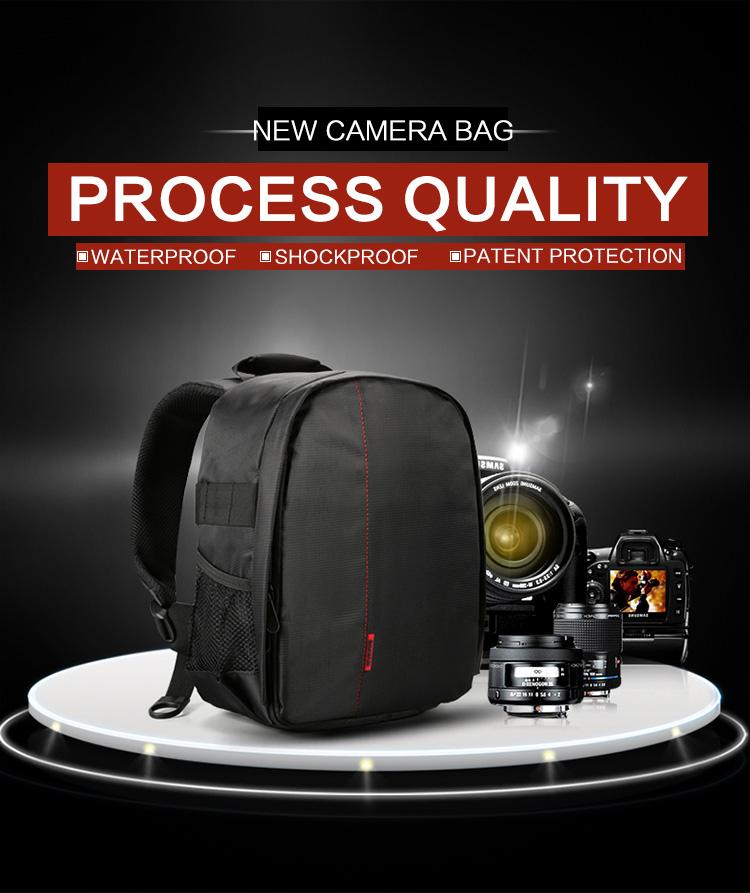 HUWANG 7460 Waterproof Multi-functional DSLR Video Photo Digital Camera Bag Padded Backpack 7