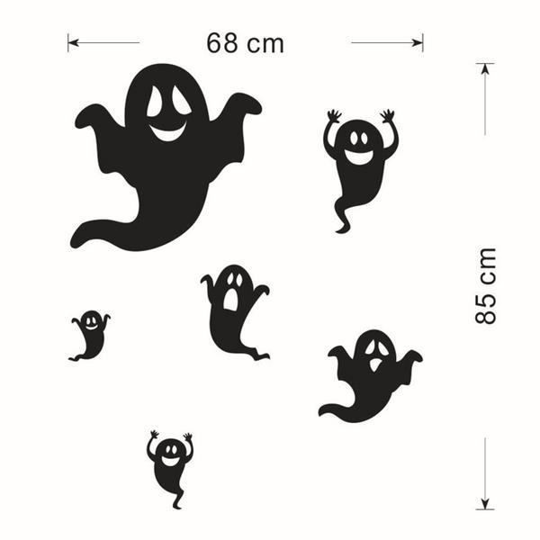 Creative Halloween Haunted House Glass Wall Stickers