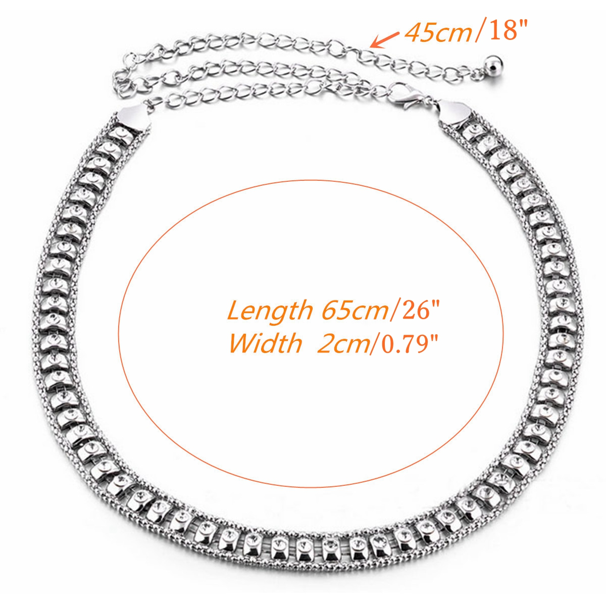 Rhinestone Crystal Shiny Charm Women Belt Waist Chain Body