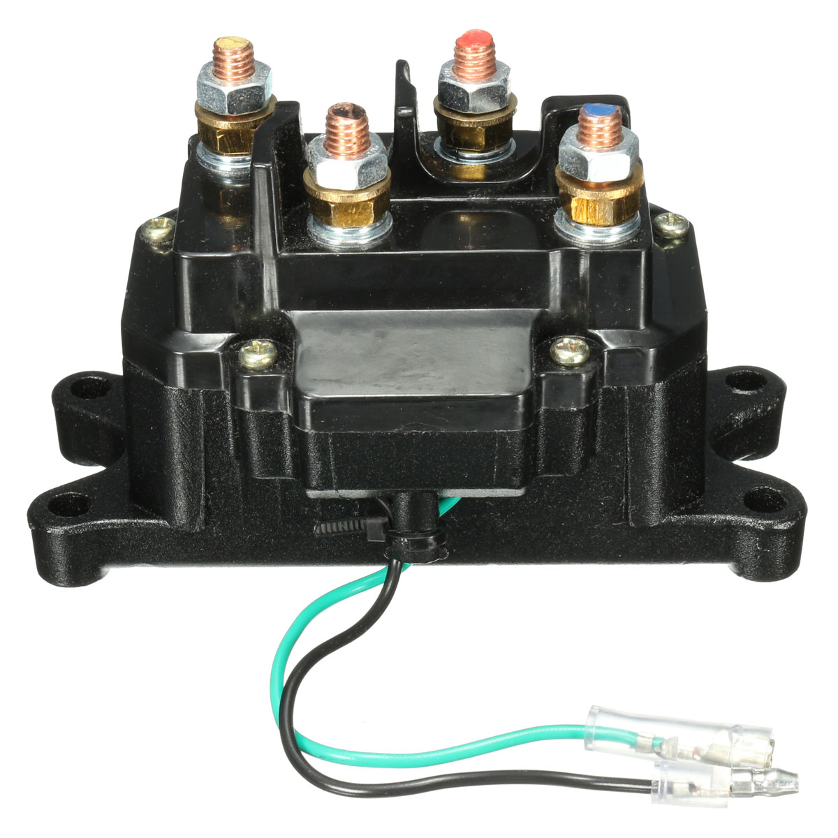 winch wiring diagram 4 solenoids 1971 vw bus 12v solenoid relay contactor rocker thumb switch for