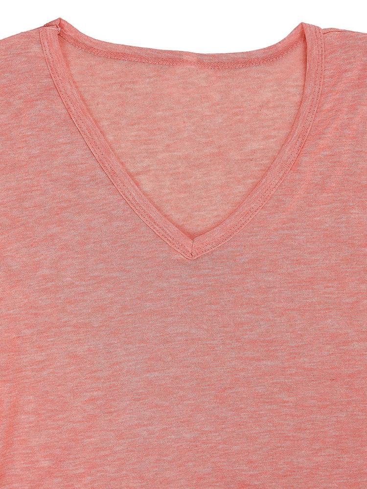 Pocket Solid Long Sleeve Dress Neckline