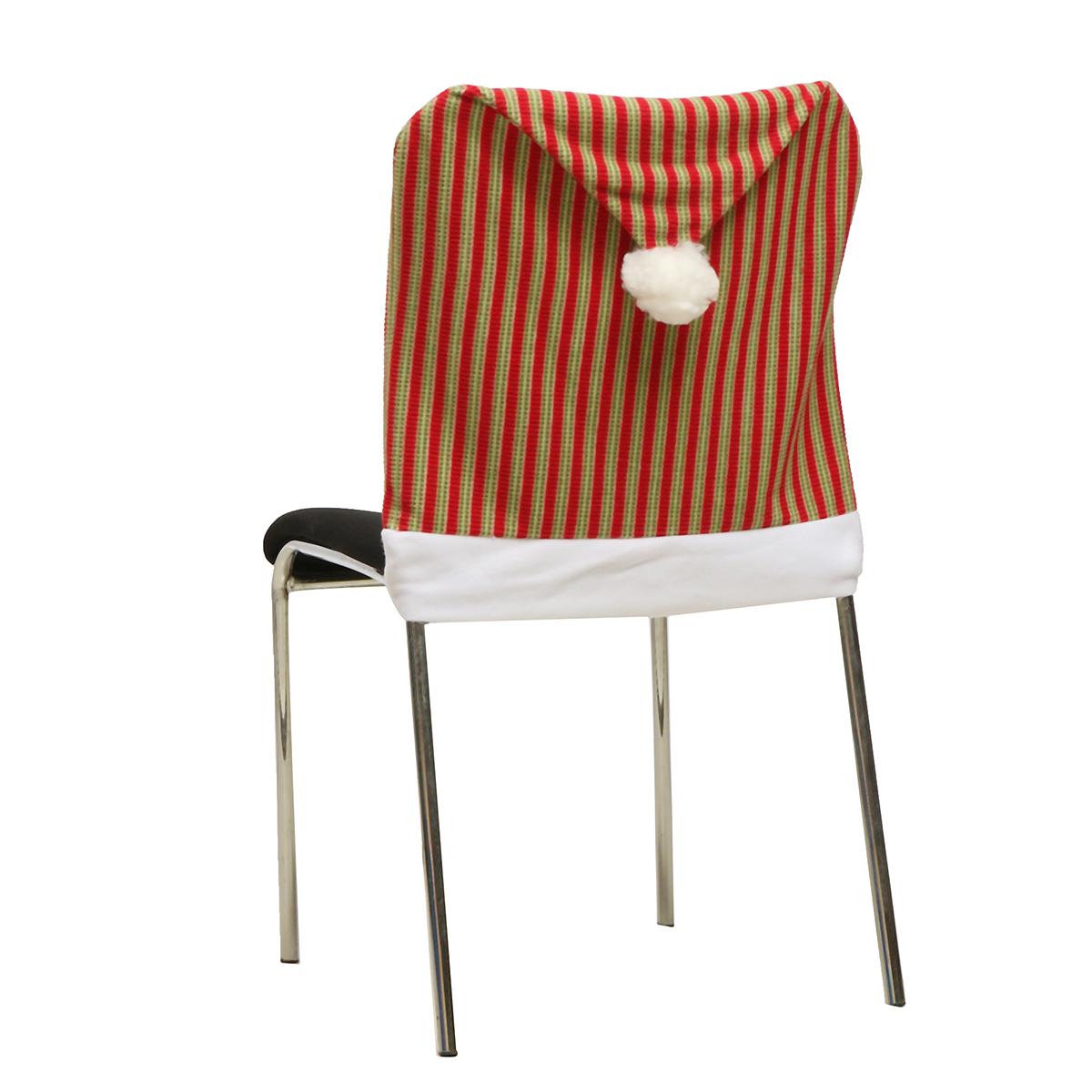 santa chair covers australia plush bean bag 70x50cm christmas vertical stripes seat cover hotel