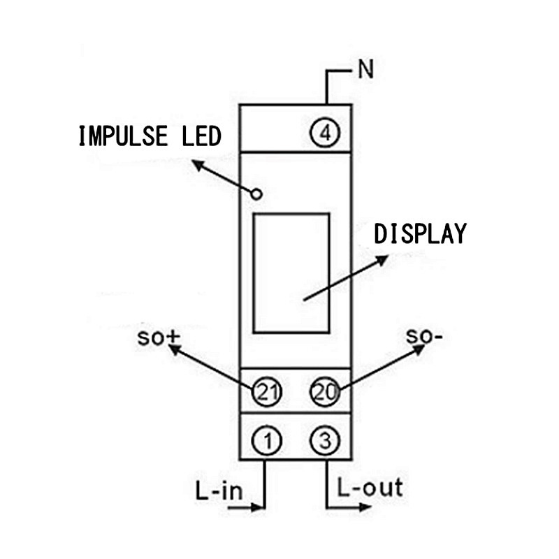 DDS238-1 230V Rail-Type Electronic Type Mini Electricity