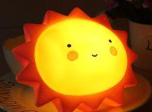 Sun Shape Children Kid Baby Cute LED Night Light Lamp For ...