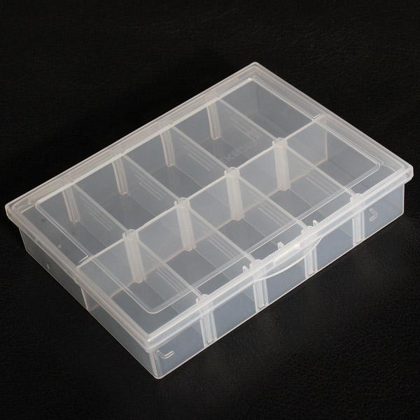 10 Compartments Storage Plastic Adjustable Electronics