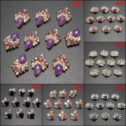3d glitter purple white black metallic