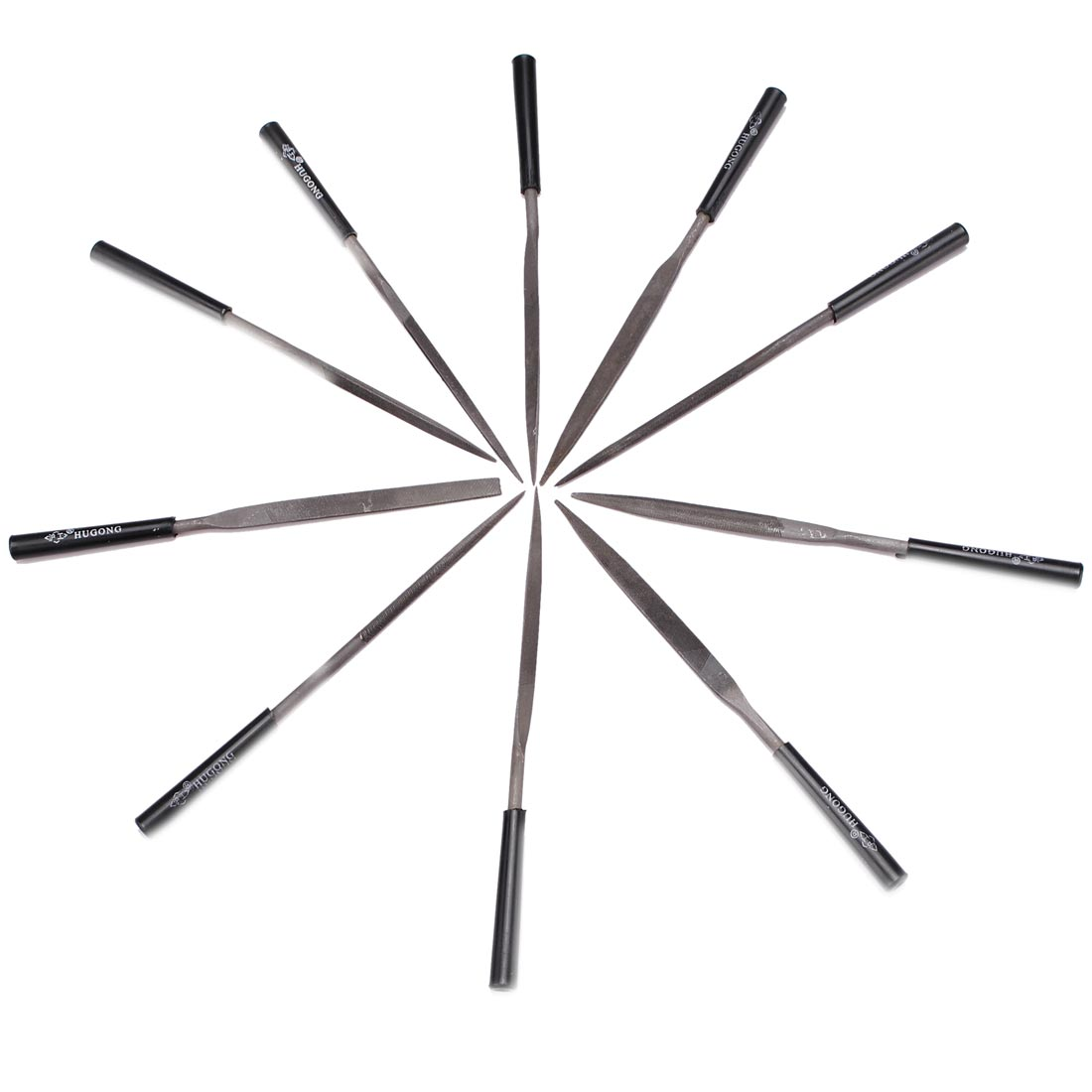 10pcs Needle Files Jeweler Diamond Metal Glass Stone