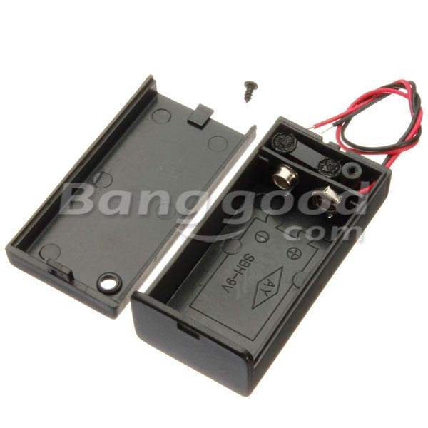 9V Battery Box Pack Holder With ON/OFF Power Switch Toggle Black 7