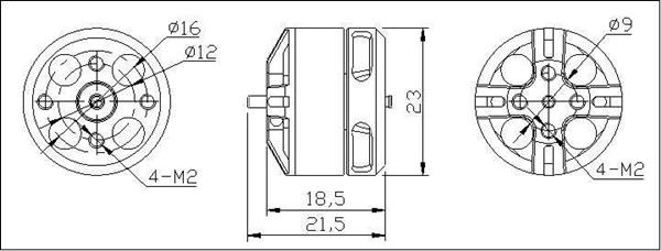 250 Combo DYS BE1806 2300KV Brushless Motor 5030 Propeller