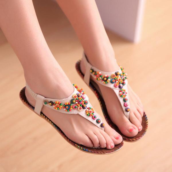 Agate Diamond Beads Sandals