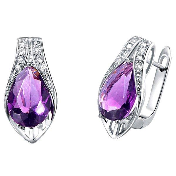Silver Plated Crystal Earrings