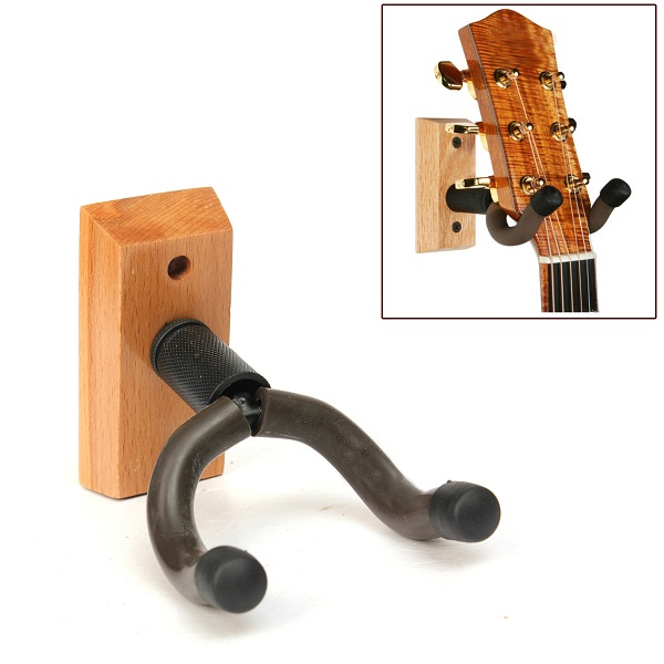 Wooden Base Guitar Hangers Wall Mount Hooks Stand Holder