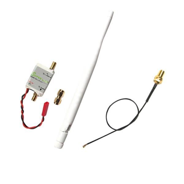 2.4G 2W Radio Signal Booster & Antenna & Feeder For DJI