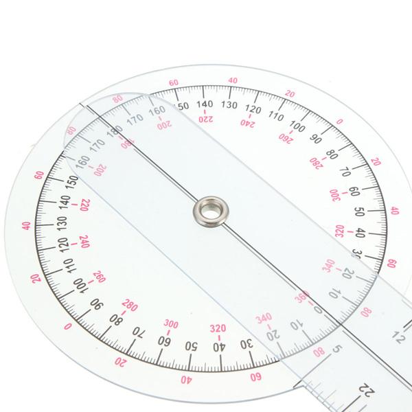 Fisioterapeuta claro goniômetro plástico ângulo régua de