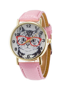 Glasses Cat Watch New Chic