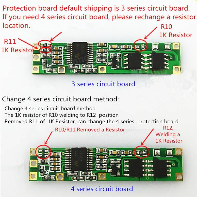 4v Lithium Battery Protection Board Protection Circuit Current 5a Li
