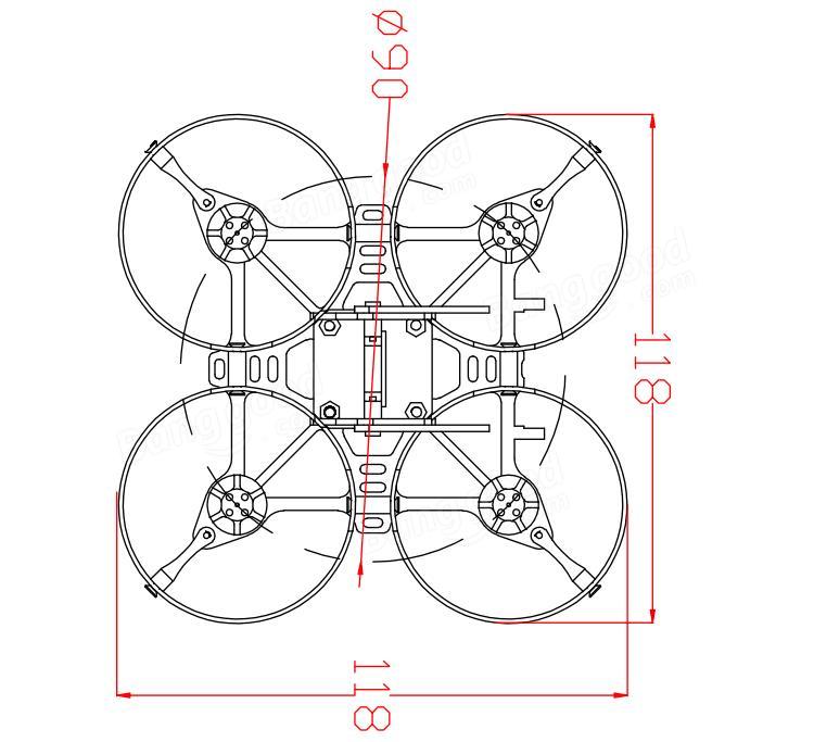Eachine Aurora 90 90mm Mini FPV Racer RC Drone BNF w/ F3
