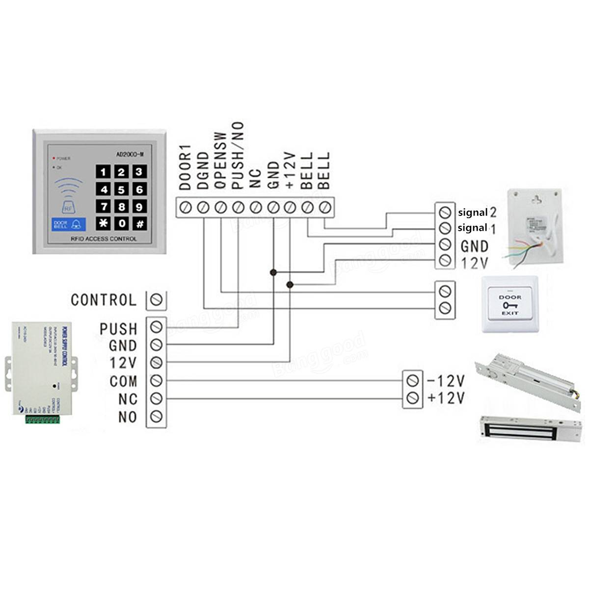 hight resolution of k dc v a door access system electric power supply control k80 dc 12v 3a door access