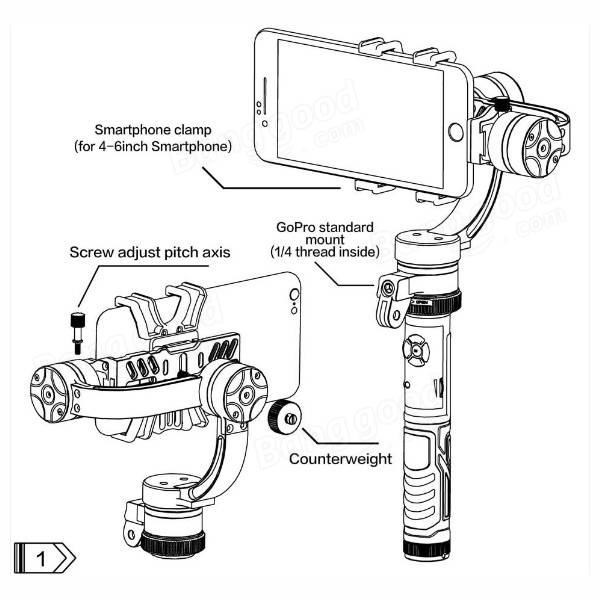 Lanparte LA3D-S 3-Axis Detachable Wired Control Handheld