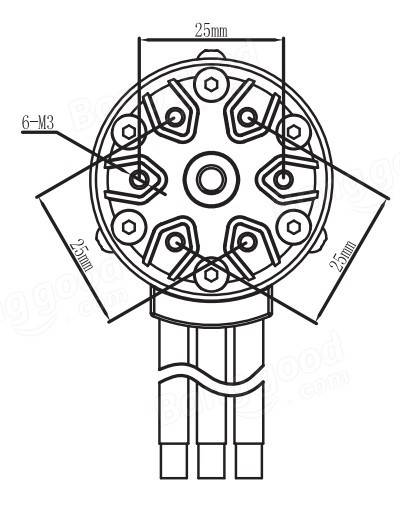 Racerstar 4076 Motor Brushless Waterproof Sensorless 2250