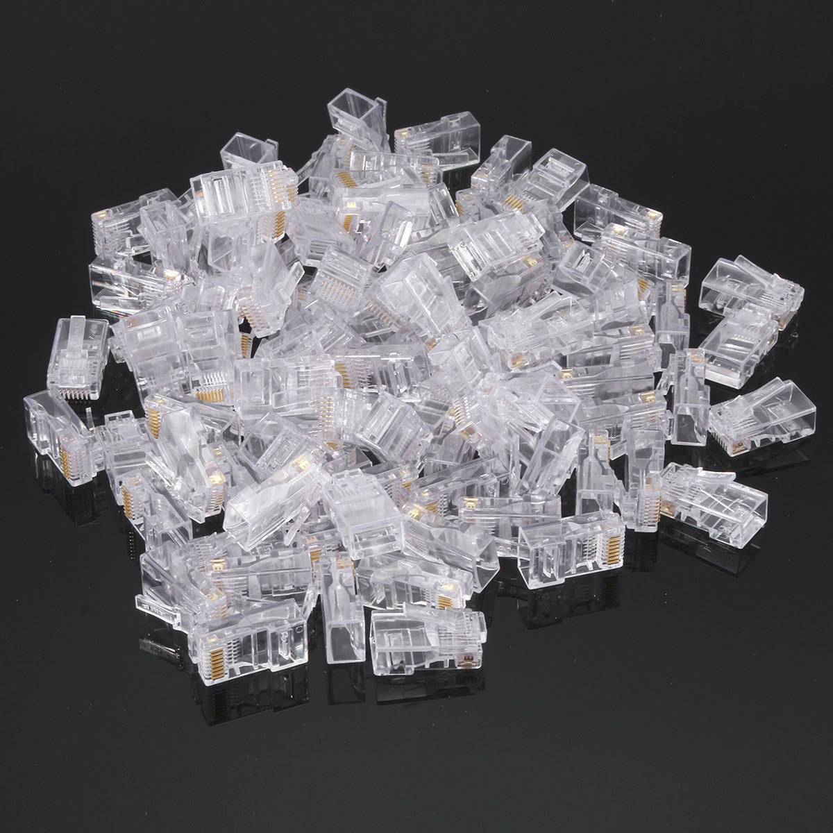 hight resolution of 100pcs ethernet network modular lan cable end plug rj45 cat5 cat5e connector