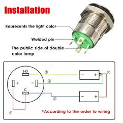 Mictuning Push Switch Wiring Diagram Sony Aftermarket Radio 12v 2a 9 5mm Waterproof Led Metal Cap Power Momentary