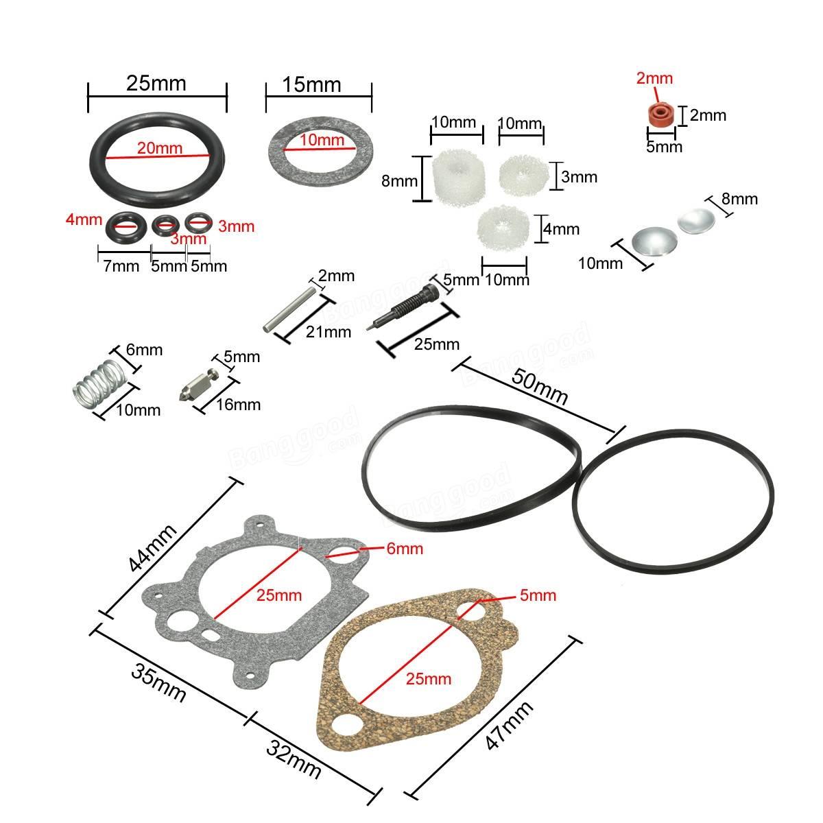Carb Carburetor Rebuild Repair Kit For Briggs & Stratton