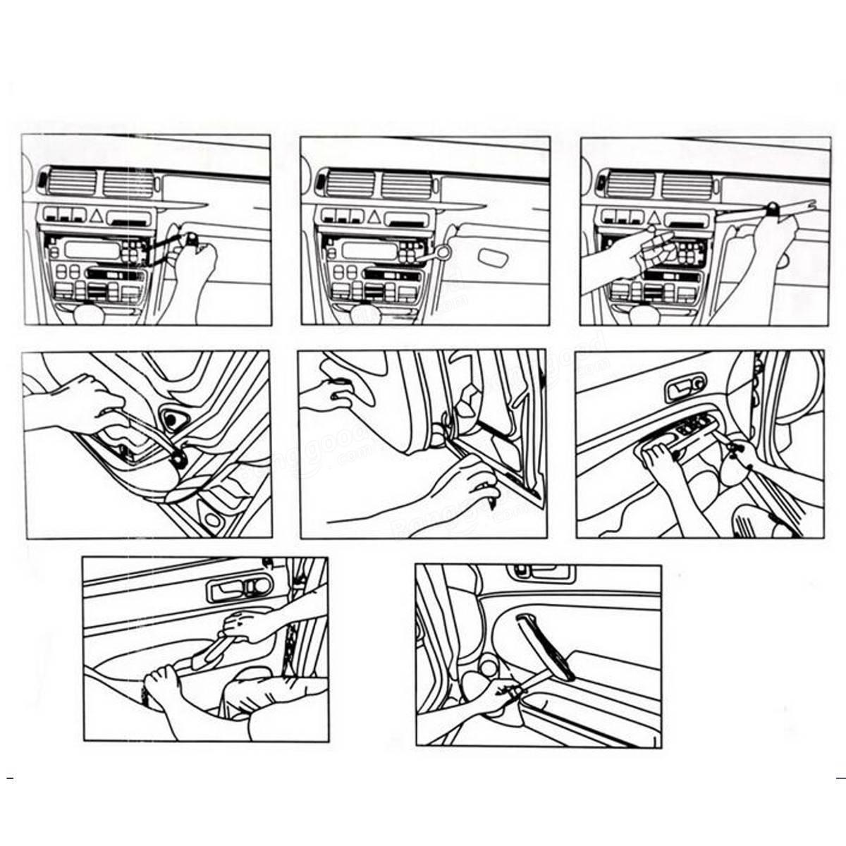 Plastic Car Radio Door Clip Panel Trim Dash Audio Removal