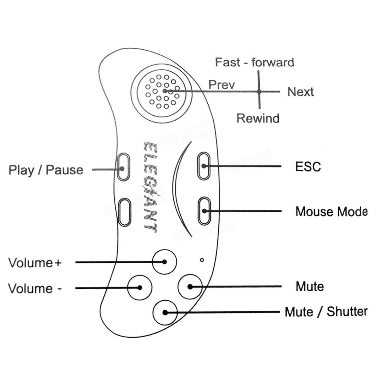 Elegiant 2 Geracao Bluetooth 3 0 Oculos Vr Comando De Videojogos Gamepad Controle Remoto Para