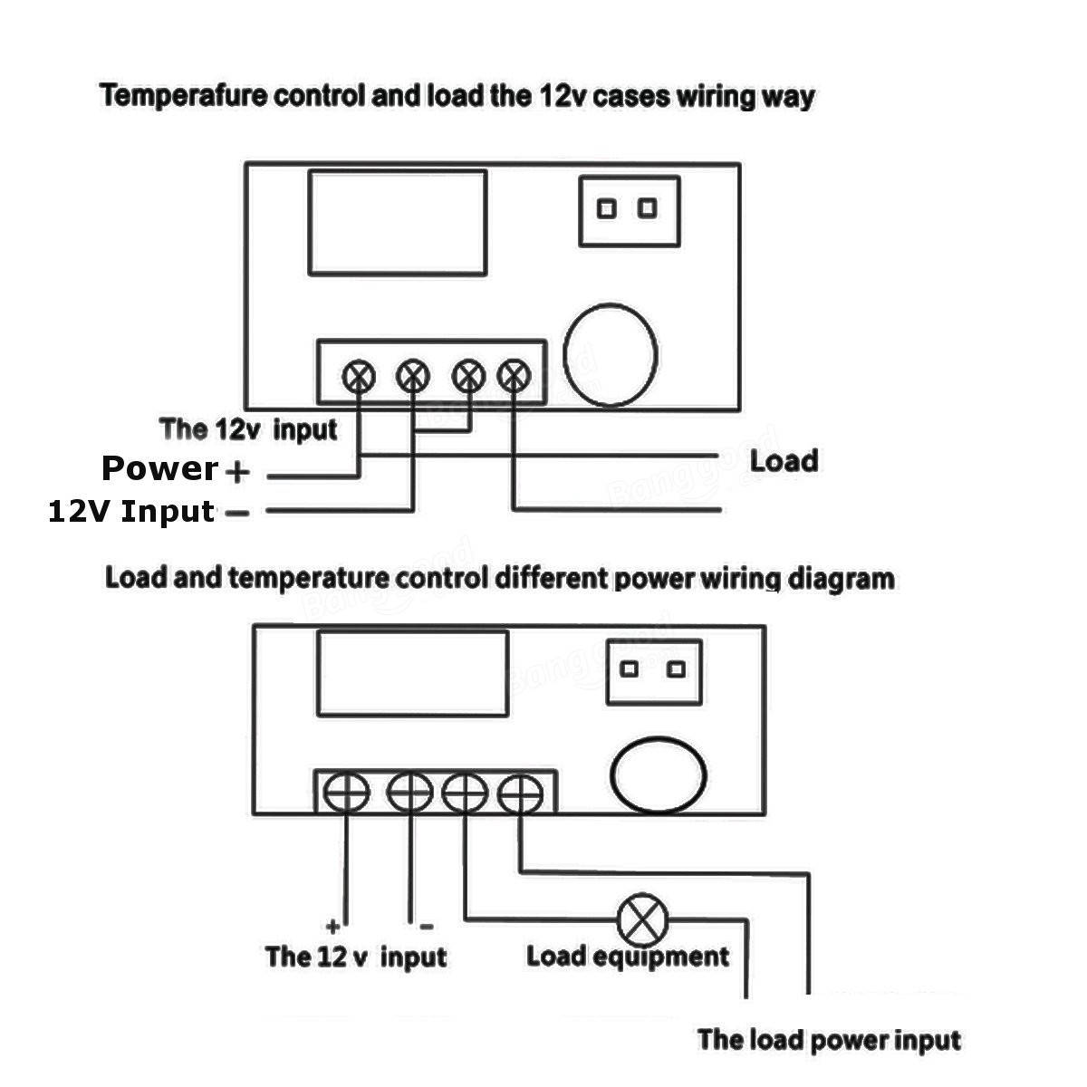 Digital Temperature Controller Wiring Diagram