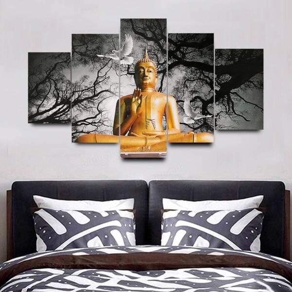 Large Buddha Canvas Wall Art
