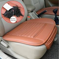 Cover Chair Seat Car Office Diy Universal Pad Pu Leather Bamboo Charcoal Cushions