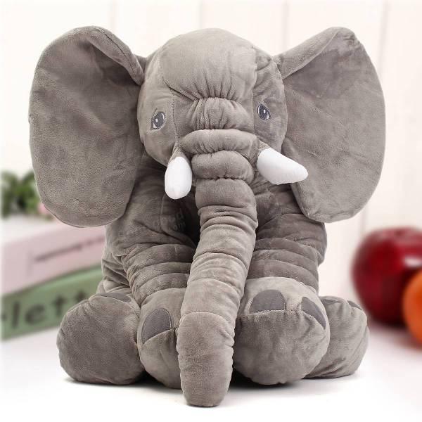 "23.5"" 60cm Cute Jumbo Elephant Plush Doll Stuffed Animal"