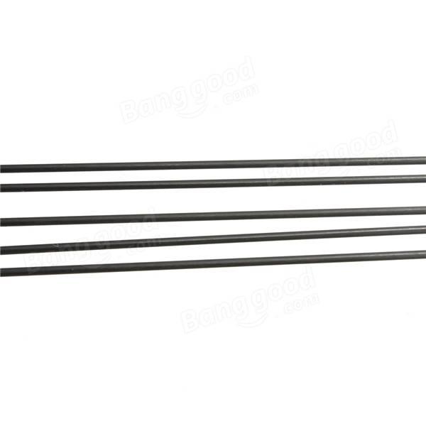 5pcs 2mm Diameter x 500mm Carbon Fiber Rods For RC
