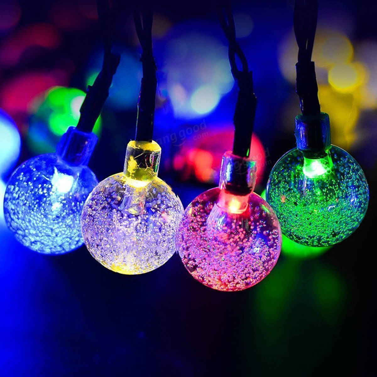 Blue Solar String Lights