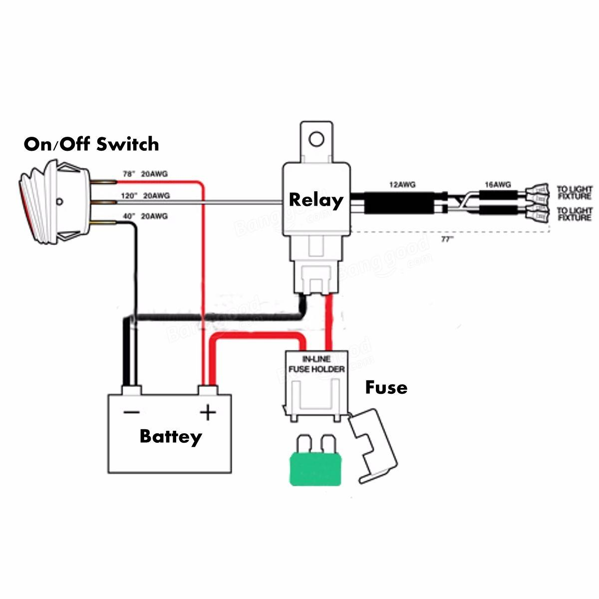 wiring diagram for 12 volt relay 3 switch one light 4 wire