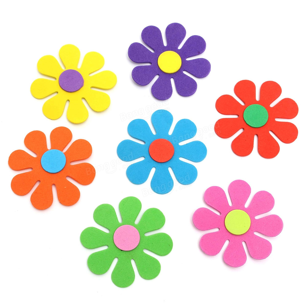 50pcs Baby Kids Room Flower Foam Removable Diy Quote Decal