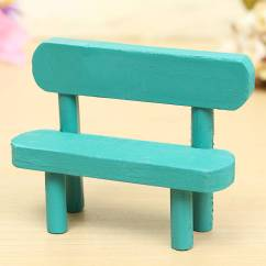 Wood Chair Accessories Swivel Bucket Chairs Wooden Mini Photography Props Dolls House Park