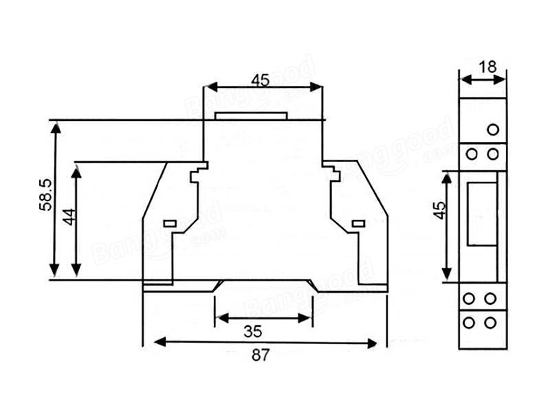 Dds238-1 230v ferroviário do tipo tipo eletrônico display