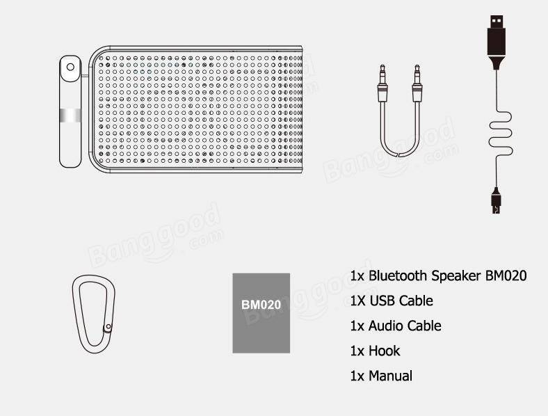 JOWAY BM020 600mAh Aux-in TF Card Wireless Bluetooth 4.0