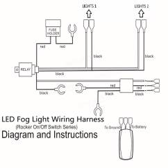 Driving Light Wiring Diagram Toyota 2003 Camry Engine Led Bar Harness Stream