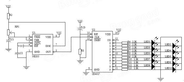 5Pcs DIY SMD Rotating LED SMD Components Soldering