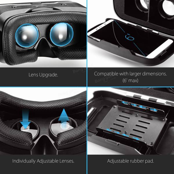 Blitzwolf Bw-vr3 3d Vr Glasses Virtual Reality Headset Iphone 8 X Xiaomi