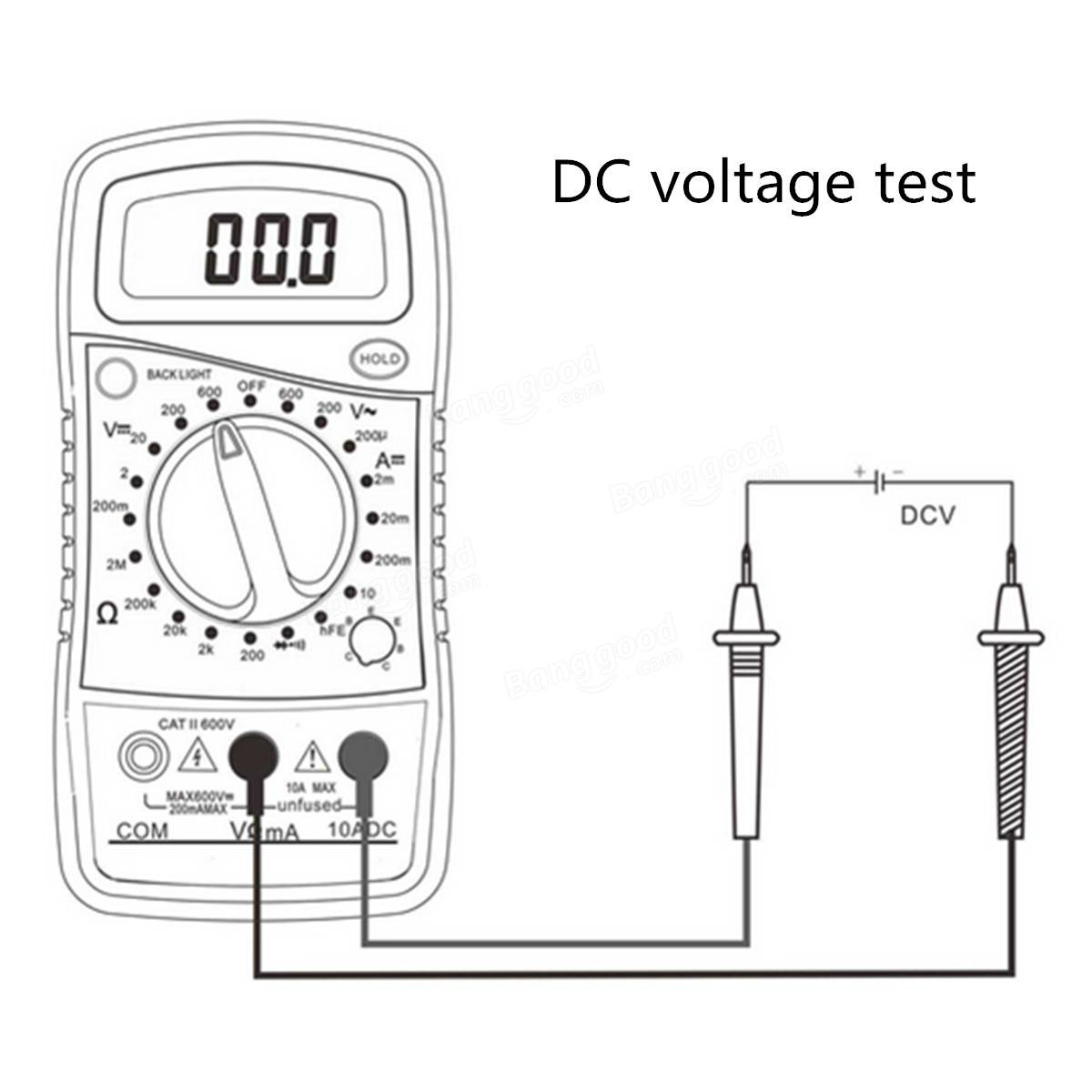 Original DT850L Digital LCD Multimeter Voltmeter Ammeter