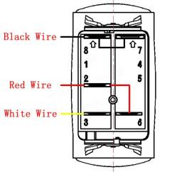 Wiring Diagram Led Light Bar Motor 12 Lead Blue Rocker Switch On Off With Harness 40a