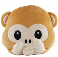 40cm Lovely Emoji Monkey Throw Pillow Plush Stuffed ...
