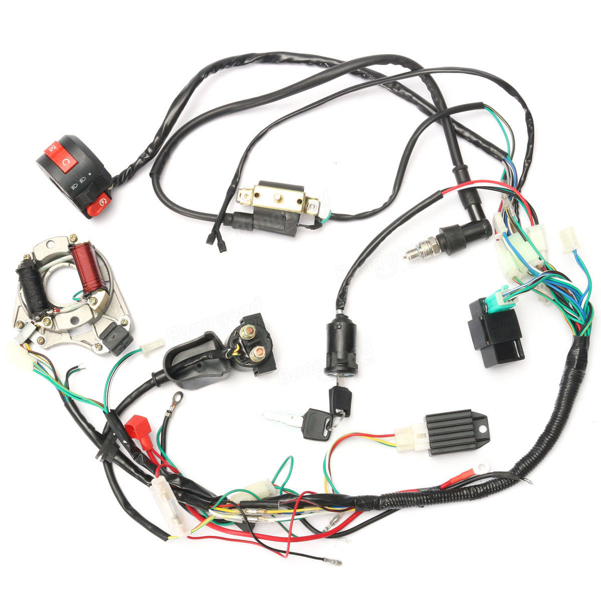 110 Panther Wiring Diagram 50cc 70cc 90cc 110cc Cdi Wire Harness Assembly Wiring Kit